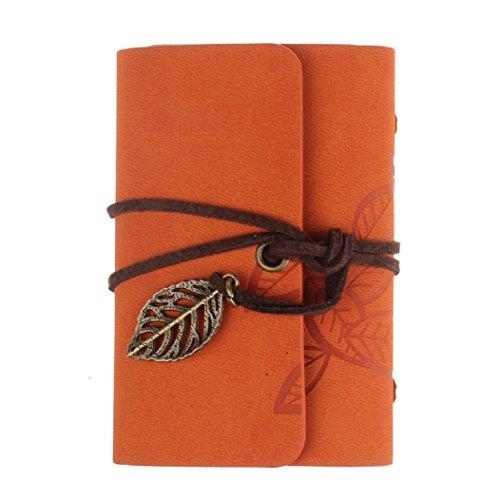 Werden & D Leder Schulter Tasche (Kolylong® Kartenhalter Kunstleder Geschäft Kredit ID Kartenhalter (Orange))