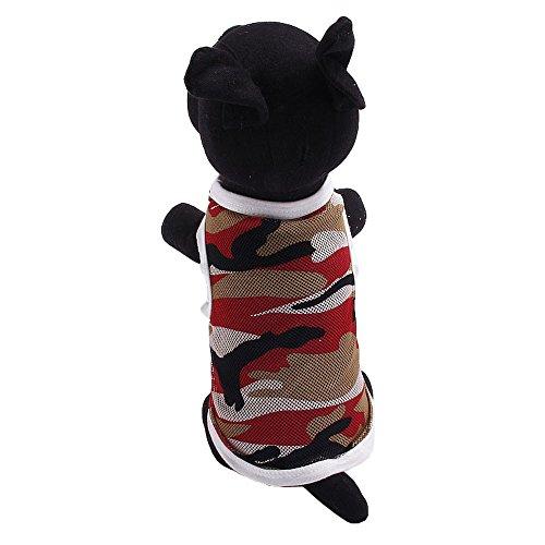 EUZeo Frühling und Sommer Tarnung Übergröße Größen Mesh Weste Hundekostüme Lovely Haustier Hund Katze Camo Pet Kleidung Hundepullover Hundeshirts Bekleidung Jacke & Sweatshirt Hundebekleidung Vintage Washed Mesh