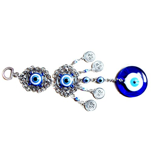 Zantec Wand, Blau Evil Eye Amulet Türkei Schutz an der Wand-Deko ein Geschenk, Anhänger