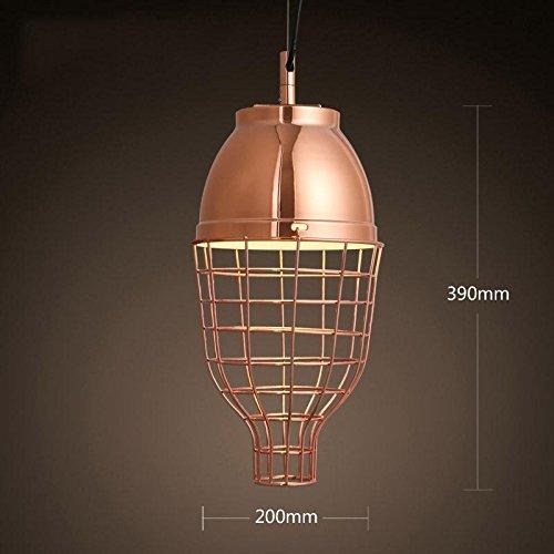 BBSLT Nordic elettroplaccatura moderno lampadario metallo bar ristorante veranda Pesce lanterna linea singola lampada pensile per illuminare , E