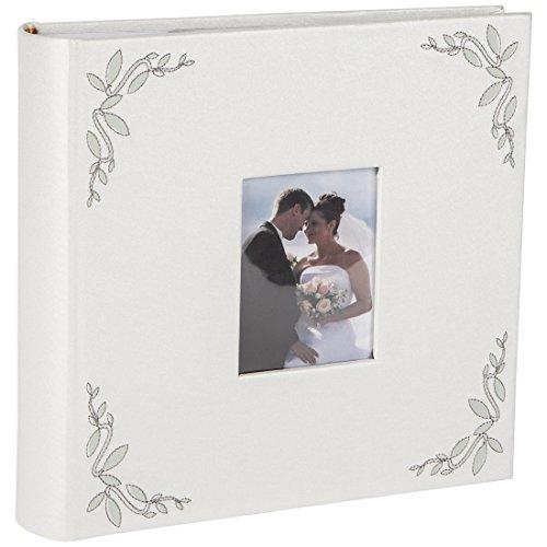 Levivo Hochzeits-/Pärchen-Fotoalbum mit Folien-Einschubtaschen für 200 Fotos