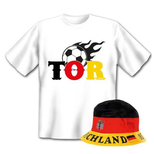 Geniales Outfit für Sport Freunde - TOR T-Shirt + Mütze