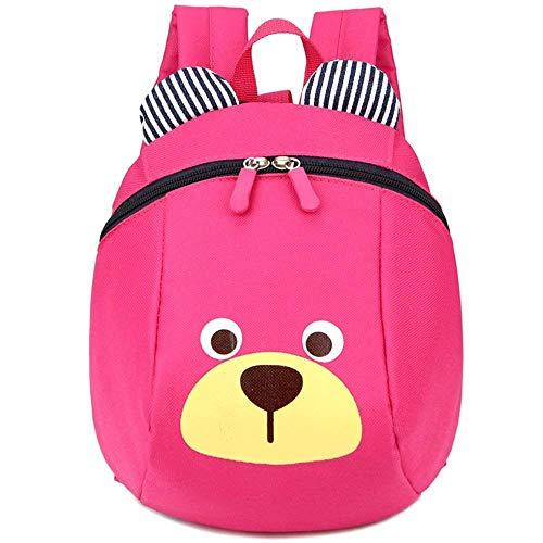 cksack Mini Bär Tier Kinderrucksack mit Brustgurt für Kleinkinder 1-3 Jahre (Rosa) ()