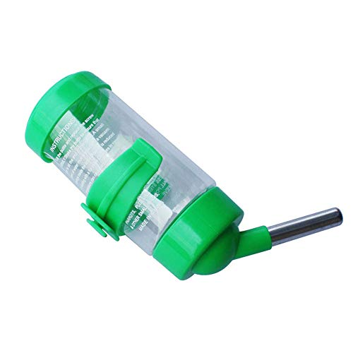 Henreal Verzehr aus Kunststoff der Quelle der Wasserausführung des Hamsters des Haustiers für Das Kaninchen des Meerschweinchens Small grün