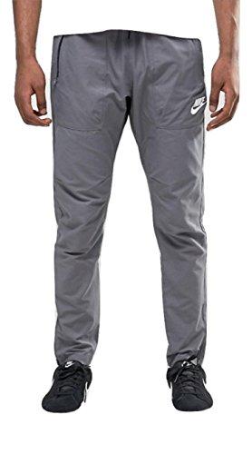 Nike M Nsw Av15 Wvn, Pantalone da Allenamento Uomo, Grigio (Dark Grey/Bianco), L