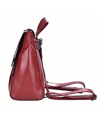 Lazutom , Damen Rucksackhandtasche Rot rot L rot