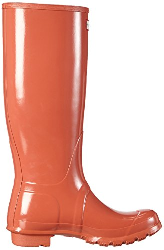 Hunter  Original Tall Gloss, Bottes femme Orange - Orange (Sunset)