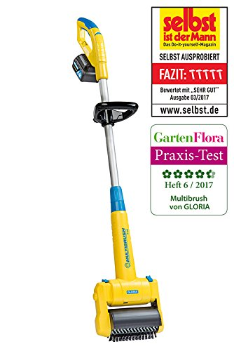 GLORIA MultiBrush speedcontrol li-on AKKU, inkl. Steinbürste und Fugenbürste Li-ionen-video