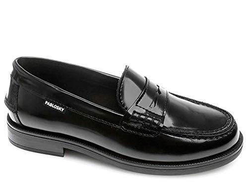 Pablosky 714813, Zapatos para Uniformes de Escuela para Niños, Negro