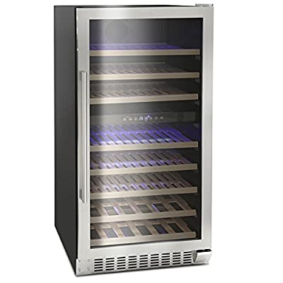 Montpellier WS94SDX Dual Zone 94 bottle Wine Cooler in Stainless Steel by Montpellier