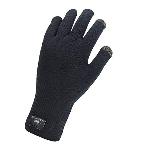SealSkinz Waterproof All Weather Ultra Grip Knitted Glove, Black, M
