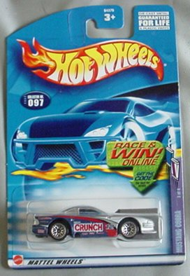 Hot Wheels 2002 Mustang Cobra Sweet Rides 3/4 #097 #97 SILVER Crunch 1:64 Scale
