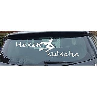 Hexenkutsche, 2- farbig neues Modell XXL-Aufkleber (Schrift weiss Hexe weiss)