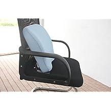 Grin Health Orthopaedic Backrest Cushion With Memory Foam (Soft-Ghobc) Sky Blue
