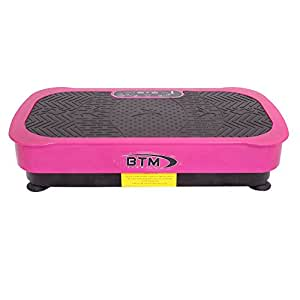 BTM Crazy Fit Vibration Plate Slim Full Body Massage Vibration Plate Fitness Machine Silent Drive Motor 200W Power Massive 99 Speed