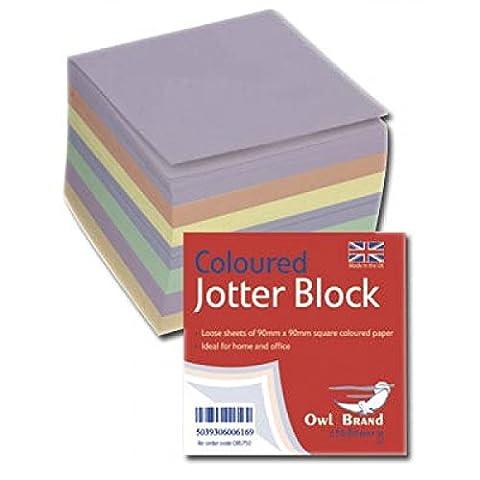 Hibou coloré marque Jotter Bloc 400feuilles & cadeau gratuit