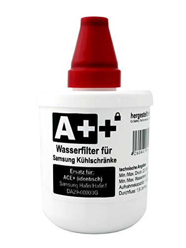 A++ Kühlschrankfilter Identisch wie ACE+, Wasserfilter für Samsung Kühlschränke, Ersatz für ACE+, Samsung Aqua-Pure Plus DA29-00003A, DA29-00003B, DA29-00003G, DA29-00003F
