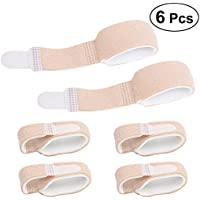 Preisvergleich für Healifty Finger Brace Splint Unterstützung Toe Splint Wraps zum Begradigen Curved 6Pcs