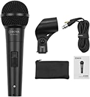 Boya BY-BM58 Professional Cardioid dynamic microphone with 5 metre XLR cable, Microphone mount & Carrying
