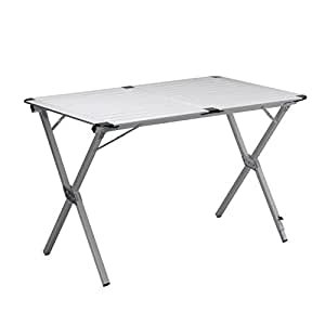 Table de camping Campart Travel TA-0796 – 70 x 70 cm – Plateau à enrouler