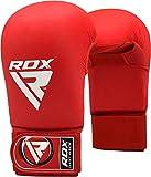 RDX Demi-Contct Gants de Taekwondo MMA Gants Sparring Libre Entrainement Combat Sac De Frappe Art Cuir De Maya Hide Grappling Karaté