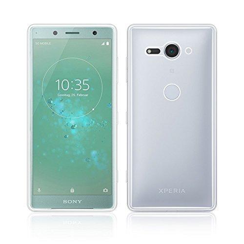 32nd Klare Gel Series - Crystal Clear Gel Ultra Dünn Schutzhülle Case Silikon für Sony Xperia XZ2 Compact, Durchsichtige Backcover Handyhülle TPU Hülle - Transparent -