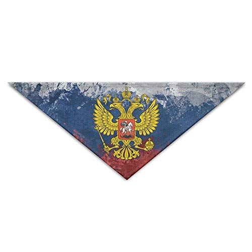 Wfispiy Russia Flag Dog Bandanas Scarves Triangle Bibs Scarfs Novelty Basic Dogs Neckerchief Cat Collars Pet ()