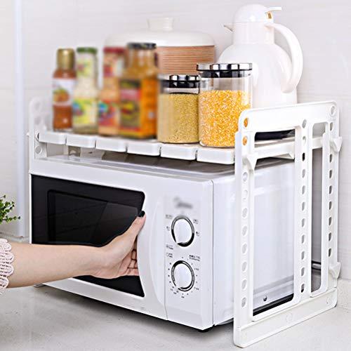 Kitchen furniture - Support de rangement en plastique pour étagères en plastique avec support de four à micro-ondes de cuisine multifonction WXP (Couleur : B)