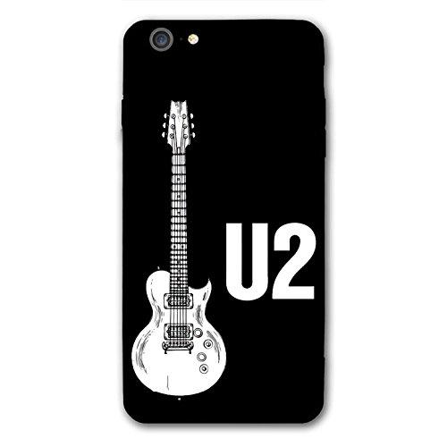 n 5Fall, U Gitarre Slim Fit Hartschale Kunststoff Soft Edge Full Schutzhülle für iPhone 6S 6schwarz ()
