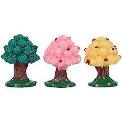 Occitop 3/Set Kunstharz Obstbäume Plant Micro Landschaft Ornament Pot Kultur Garten Werkzeug Dekorationen Miniaturen Geschenke
