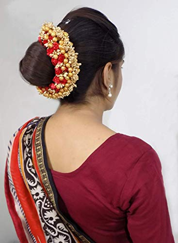 AASA South Indian Hair Gajra for Women for Diwali and Karva Chauth