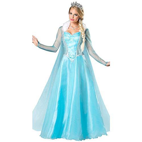 hhalibaba Erwachsene ELSA Prinzessin Kostüm Anime Fantasia Prinzessin Cosplay Kleidung Damen Anime Halloween Kostüm für (Sexy Kostüm Elsa)