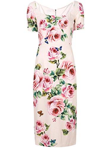 Dolce E Gabbana Damen F67j4tfsri3hah41 Rosa Viskose Kleid (Dolce Damen-kleider & Gabbana)