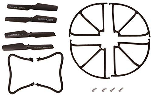 Preisvergleich Produktbild Holy Stone Rc Ersatzteile für DFD F181 JJRC H12C Quadrocopter Drohne inkl. Fahrwerk , Schutzrahmen und Blätter