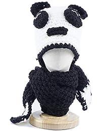 CGN Animal Tejer Sombrero para niños Capucha Bufanda Animal Oreja Sombrero  Invierno Suave Caliente Crochet Hat d8aa24ca86b