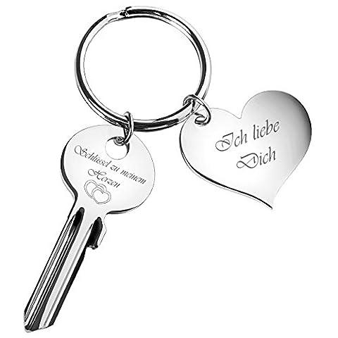 Schlüssel zu meinem Herzen mit Herz-Anhänger