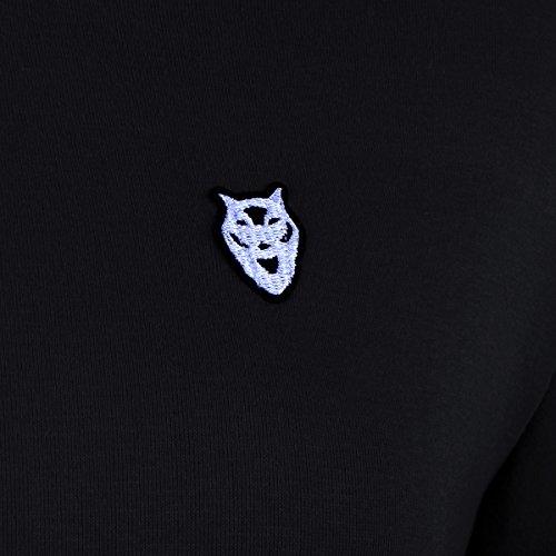 FANTIGO Femme Mode Hooded Sports Automne Tops à Manches Longues Hiver Sweats à Capuche Pull Hoodie Sweat-shirt Noir