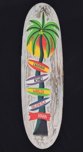 Surf-60-cm-Decoracin-Wegweiser-Hawaii-Hawaii-Island