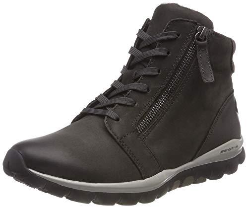 Gabor Shoes Damen Rollingsoft Derbys, Grau (Dark-Grey (Mel.) 39), 37.5 EU