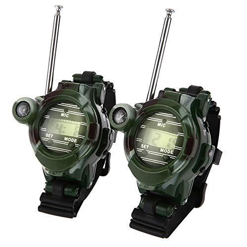 SevenPanda Walkie Talkie Uhren für Kinder, 2 PCS Funk Mini Uhr mit Taschenlampe Outdoor Spiel Interphone für 3-12 Jahre alte Jungen und Mädchen, Geburtstag, Weihnachten (1 Paar)