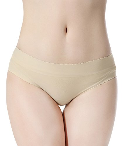 Everbellus Bragas Push Up Con Relleno Extremo para Mujer Beige Medium