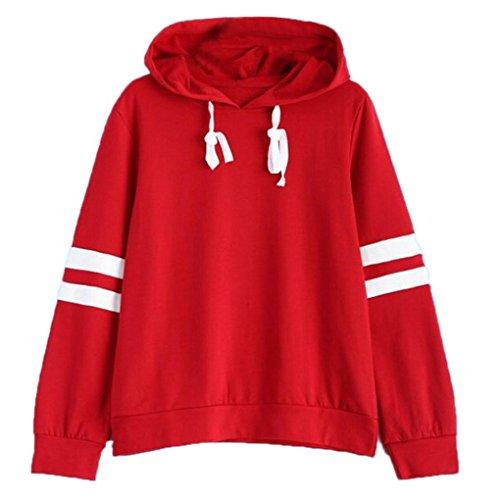 Zolimx Damen Hoodie Sweatshirt, Frauen Jumper Mit Kapuze Pullover (S, Rot 5) -