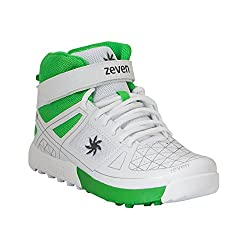 Zeven Blaze Mesh Cricket Shoes, Mens UK 9.5 (White)