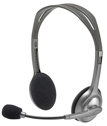 (CERTIFIED REFURBISHED) Logitech H110 Stereo Headset, Black & Grey