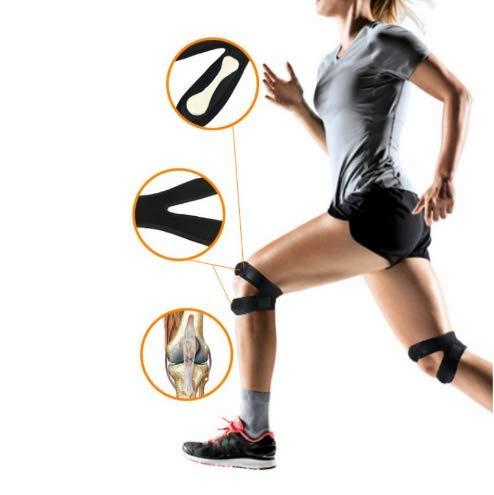 Neue 1 STÜCKE Druck Knie Wrap Sleeve Unterstützung Verband Pad Elastische Hosenträger Knie Loch Kniepolster Sicherheit Basketball Tennis Radfahren