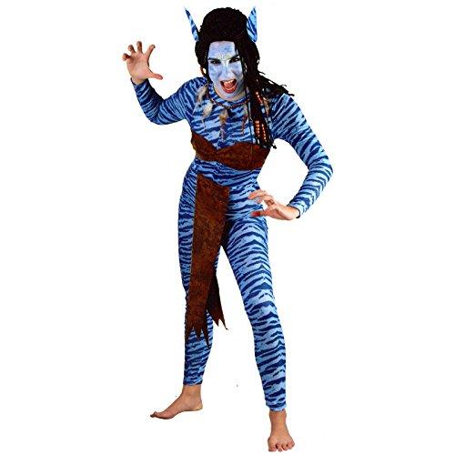 Avatar Damen Kostüm - Spassprofi Kostüm Blaue Kriegerin Gr. 38-42 Faschingskostüm Tierkostüm Waldwesen