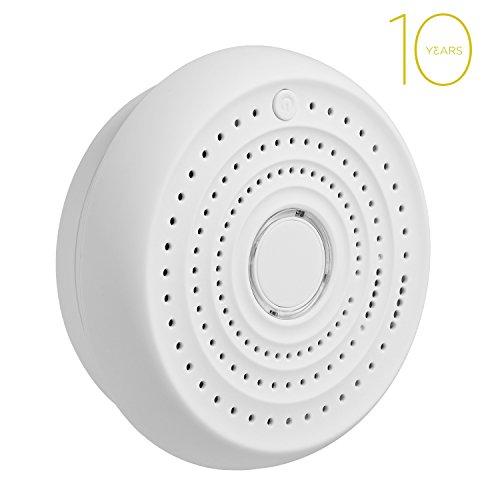 SENDOW 10 Años Batería Inalámbrica Radio-Interconectado Detectores De Humo De Alarmas Opticas