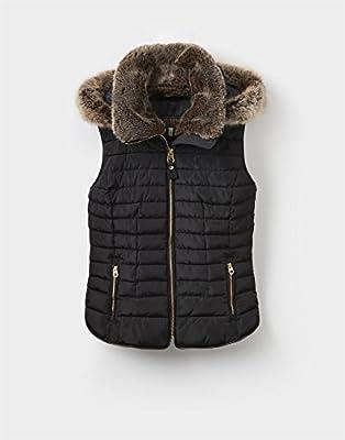 Joules Womens/Ladies Melbury Fur Trimmed Bodywarmer Gilet