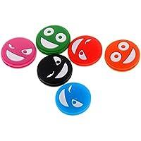 perfk 6 Piezas de Amortiguador de Raquetas de Tenis Antivibrador En Forma de Cara con Expresión Accesorio para Deportista