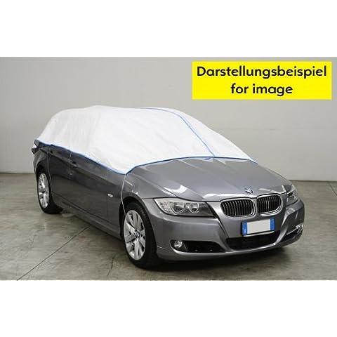 Media autoabdeckung–Mini Car Cover–MITSUBISHI 4WD EX en blanco Exclusiv de Tyvek incl. Almacenamiento
